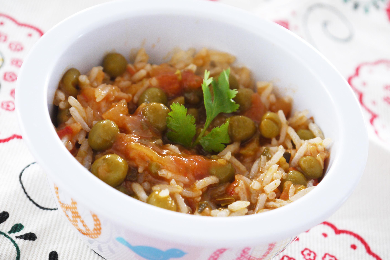 riz aux petits pois la sauce tomate une recette de r galez b b. Black Bedroom Furniture Sets. Home Design Ideas