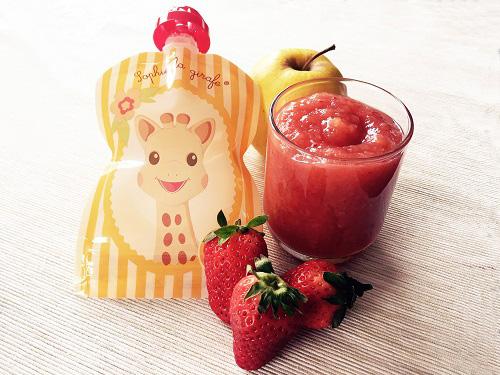 d3b8fb0c6aeb2 Compote pomme fraise pour bébé - une recette de Régalez Bébé