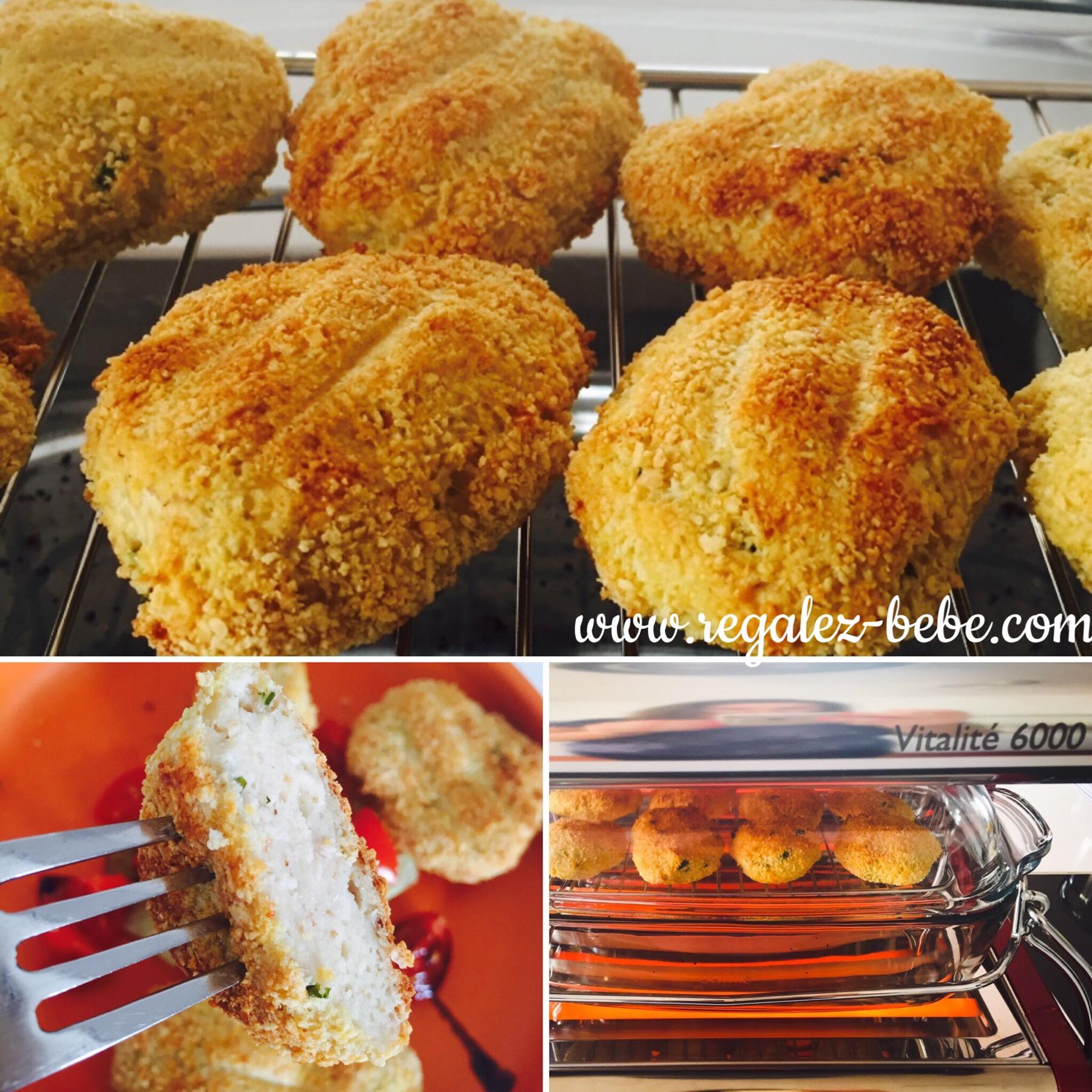 nuggets maison de poulet au pecorino une recette de r galez b b. Black Bedroom Furniture Sets. Home Design Ideas